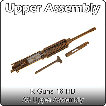 RGuns 16 Inch Heavy Barrel AR15 Upper Assembly